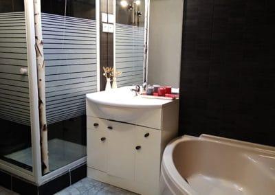 salle de bain du gite le hauban